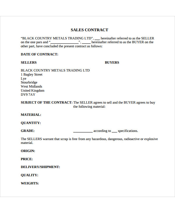 new for sale by owner contract template example1