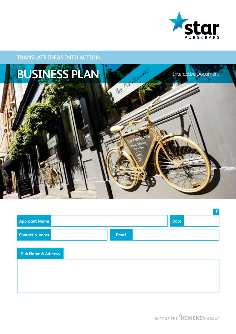 night pub business plan example