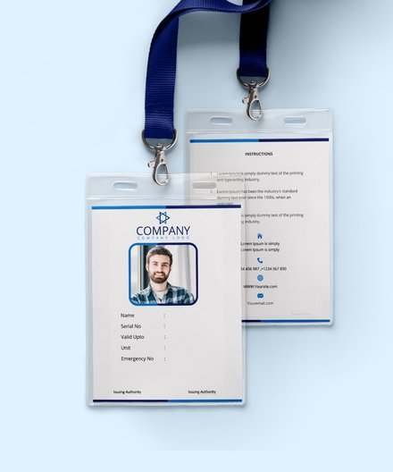office blank id card template