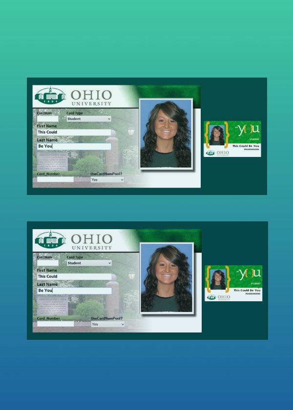 ohio university student id card