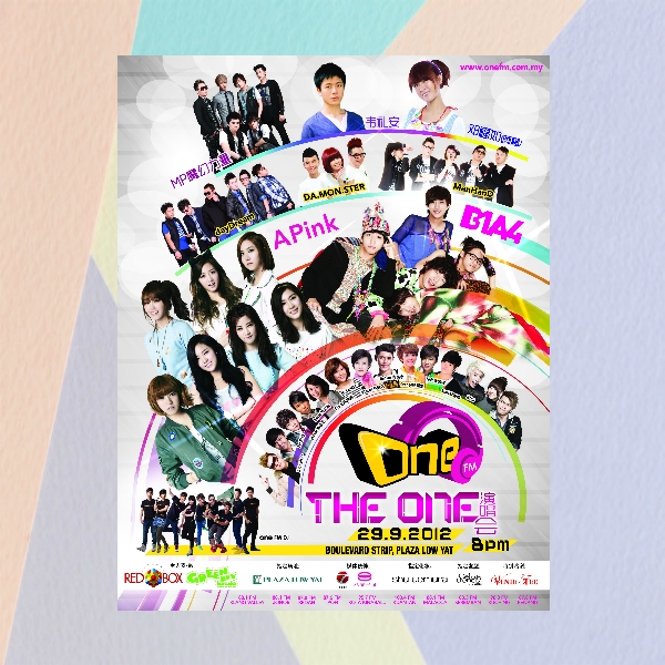 one fm malaysia concert flyer