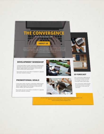 One Page Brochure For Education and Business Activities Template Example