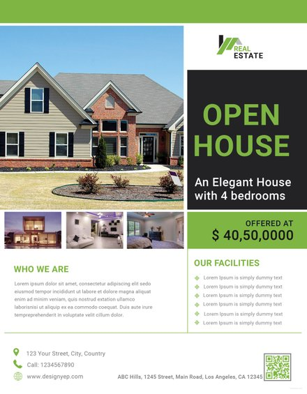 open house promotion flyer template example