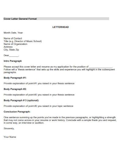organization cover letter