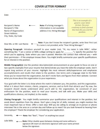 organization recipient cover letter