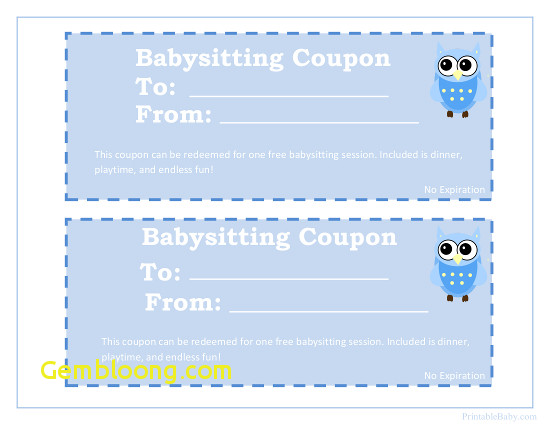 owl babysitting coupon template example