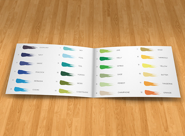 paint company catalog example