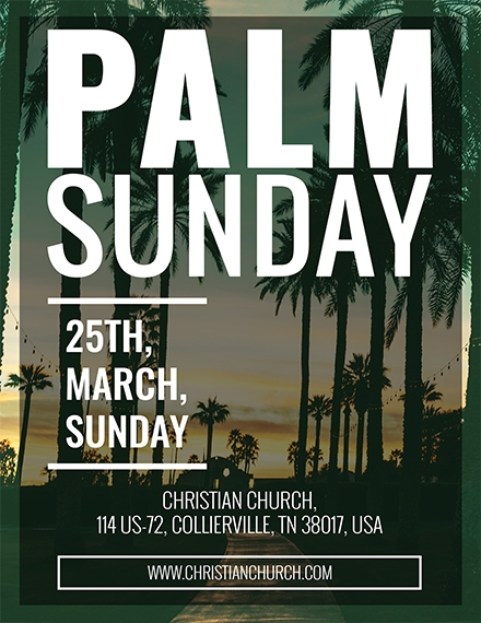 palm sunday flyer