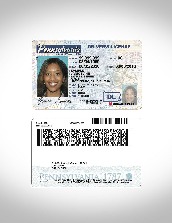 pennsylvania drivers license id card