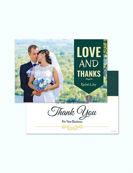 personalized thank you card templates