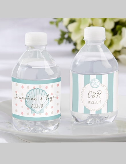 personalized water bottle wedding label sample