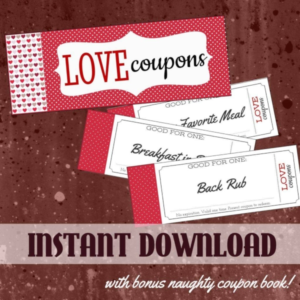 printable love coupon example