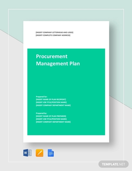 procurement management plan example