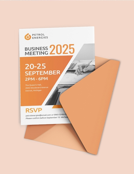 professional business meeting invitation template