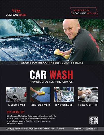professional car wash flyer sample