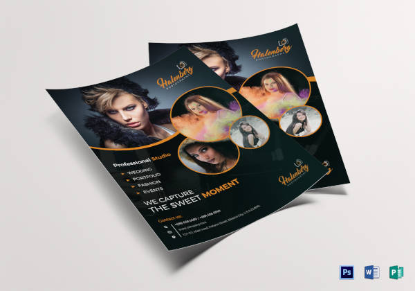 professional custom design photography flyer template