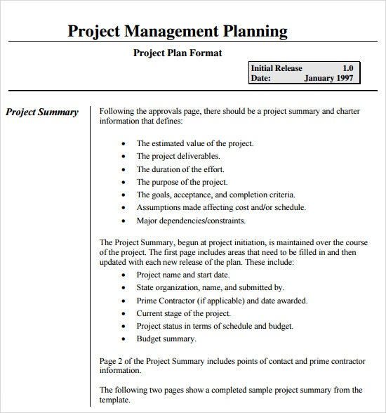 Project Schedule Management Plan Template Canas Bergdorfbib Co