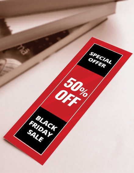 Promotional Bookmark Template
