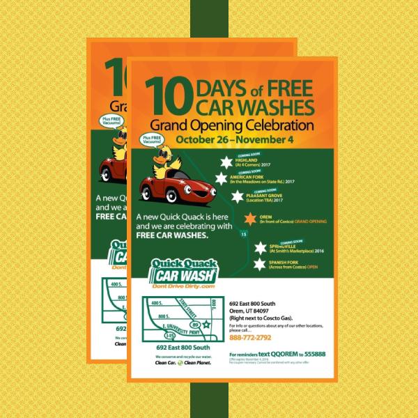 quick quack car wash flyer