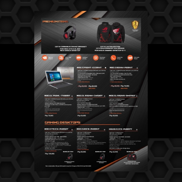 rog 10th year anniversary promo business flyer