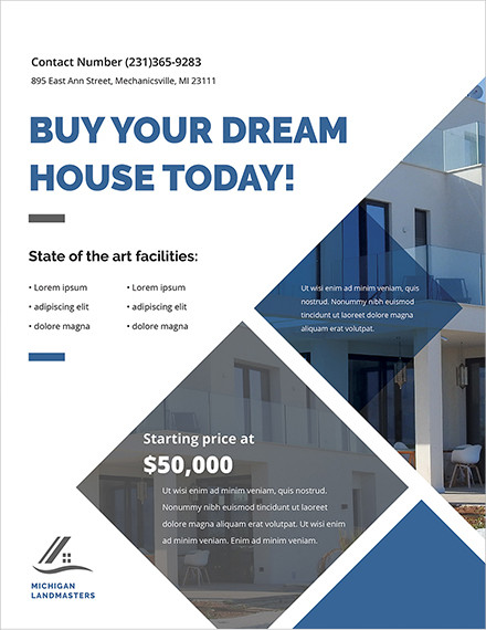 real estate business flyer template1