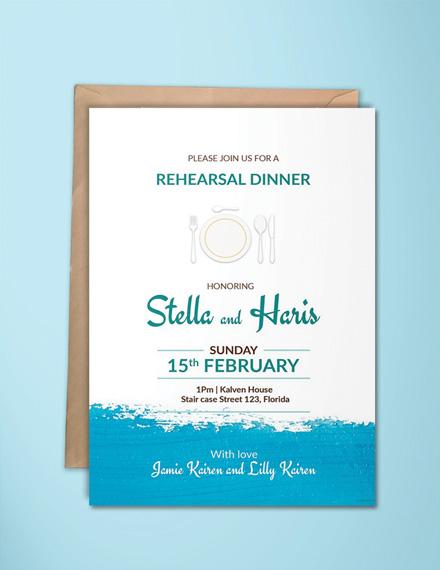 rehearsal dinner invitation design