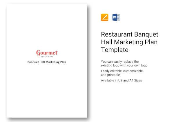 restaurant banquet hall marketing plan template