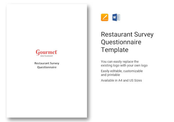 7 restaurant questionnaire examples samples pdf word pages