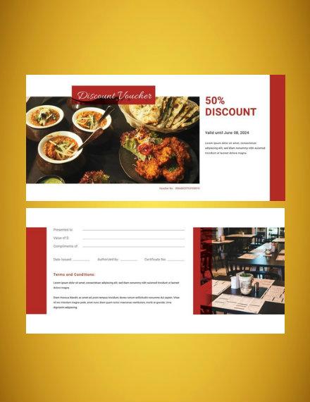 restaurant voucher template