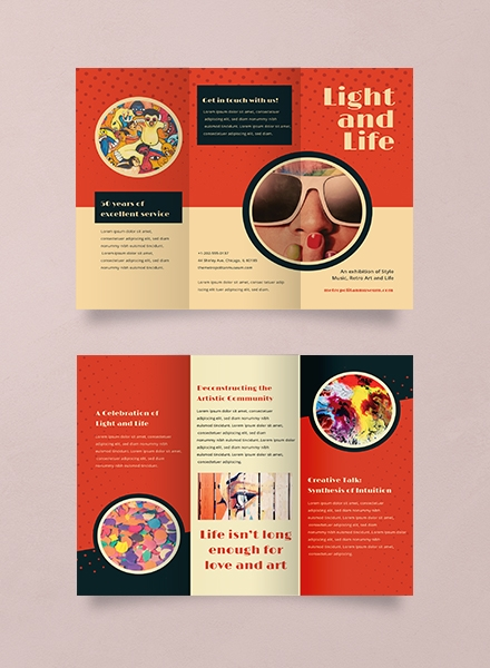 retro brochure template
