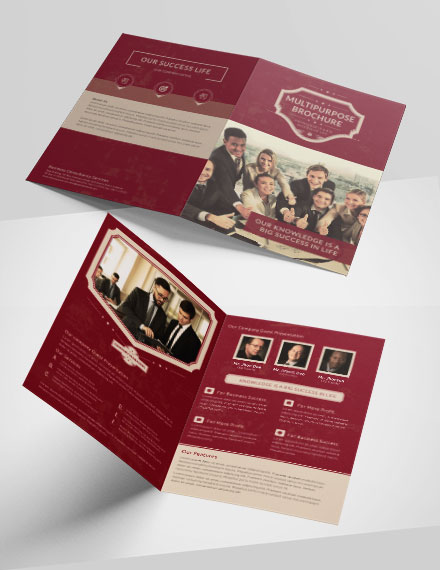 retro multipurpose bi fold brochure design
