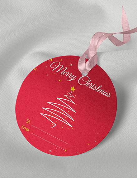 Round Gift Tag Template