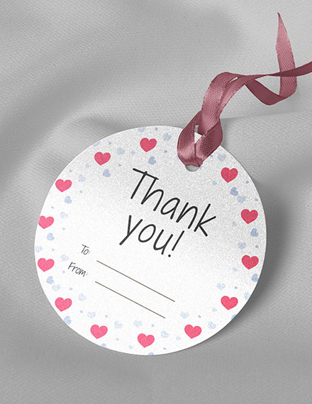 round thank you tag template
