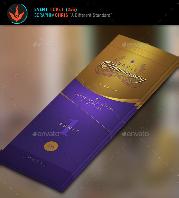 royal gold anniversary ticket example