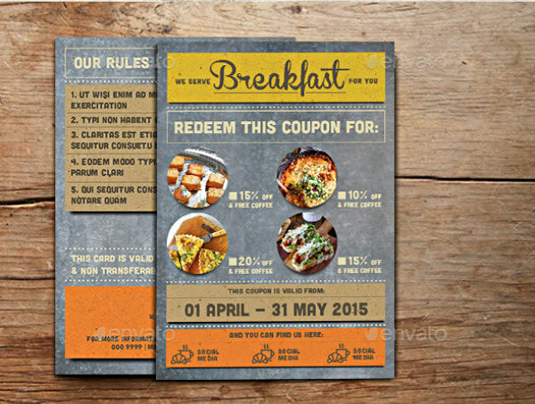 rustic breakfast discount coupon example