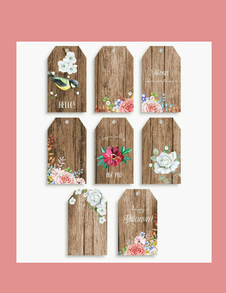 Rustic Wood Gift Tags Example
