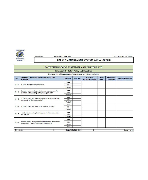 safety management system gap analysis1
