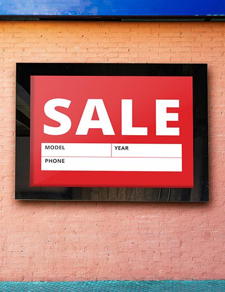 Sale Sign Template