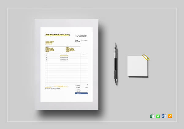 sales tax invoice template