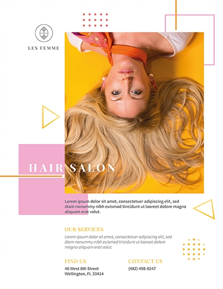 salon promotion flyer template example