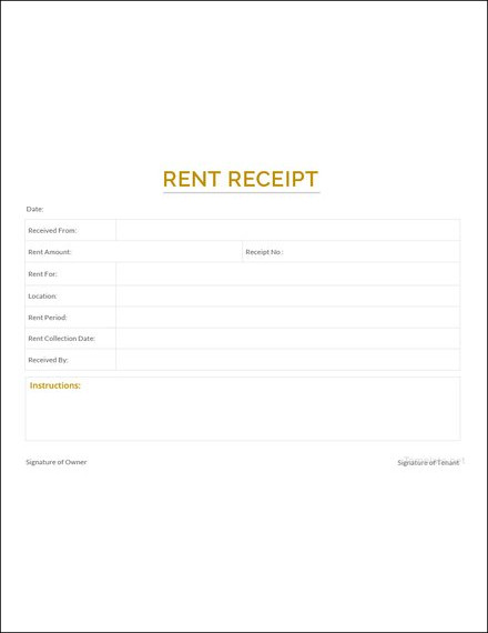 sample apartment rent receipt1