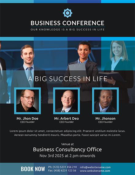 Sample Business Conference Flyer