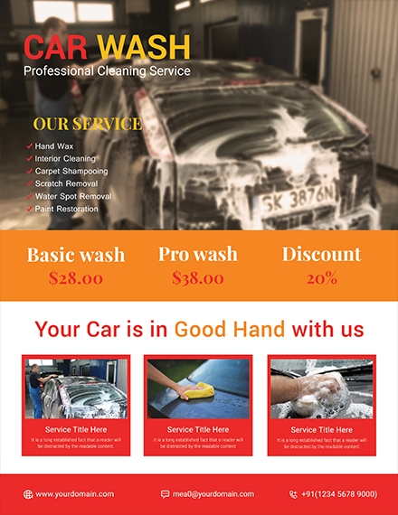 sample car wash flyer design