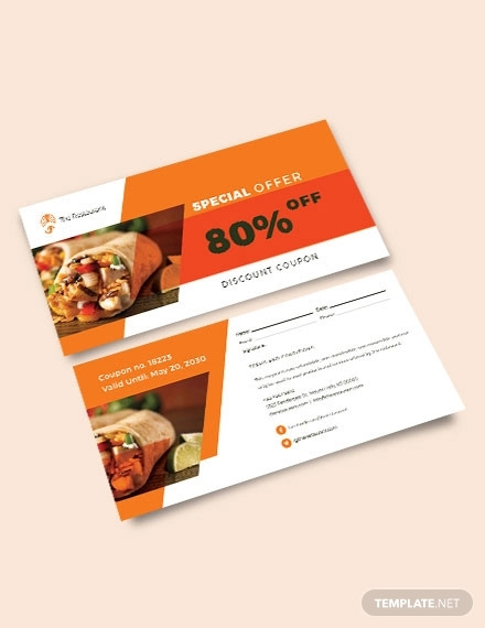 sample discount coupon template