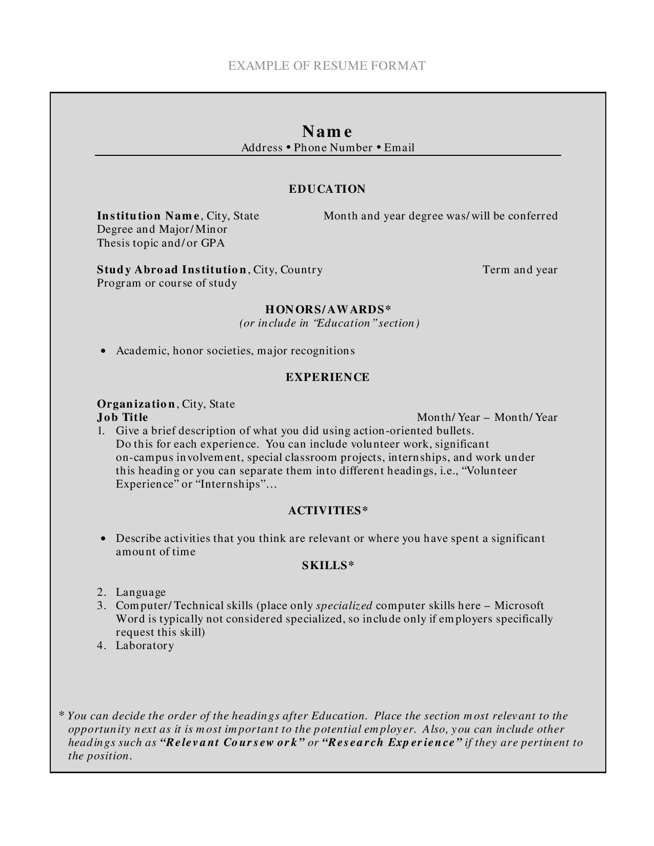 10 Fresher Resumes Examples Templates In Word Indesign