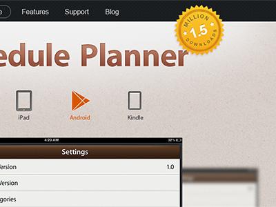 Schedule Planner Website Example