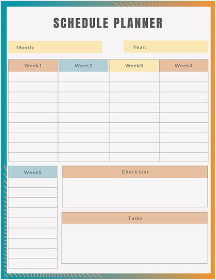 schedule planner1