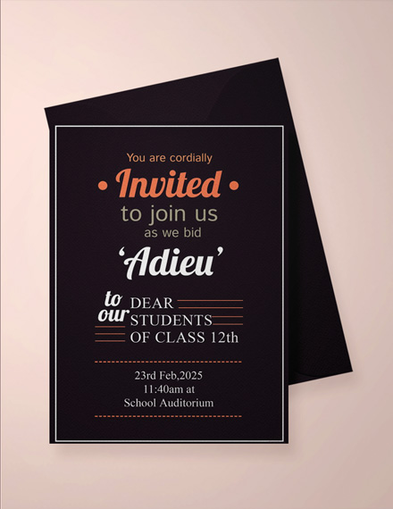 School Farewell Party Invitation