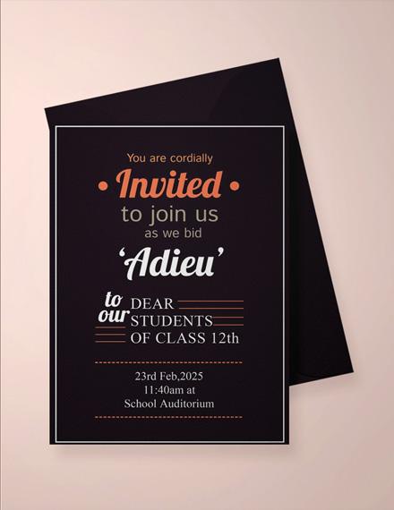 school farewell party invitation