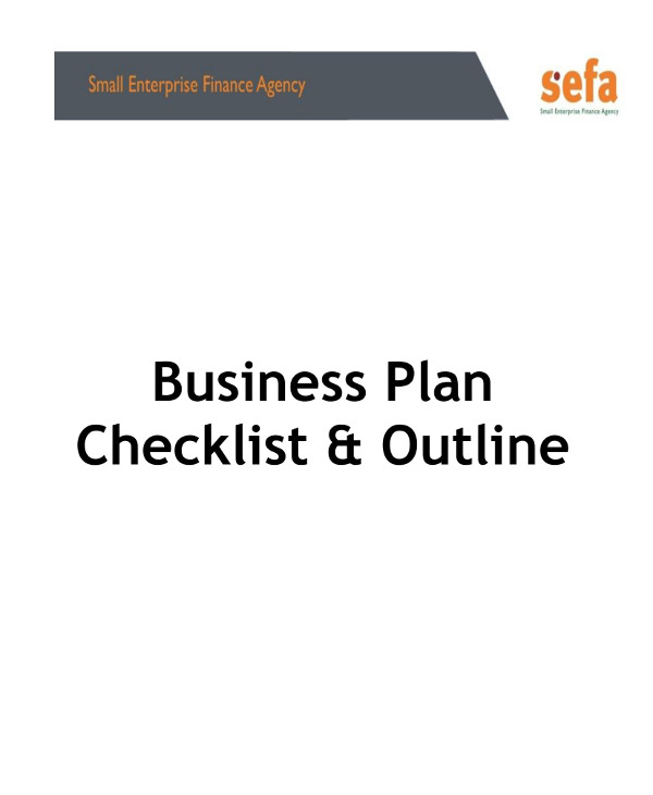 sefa franchise business plan outline checklist example1